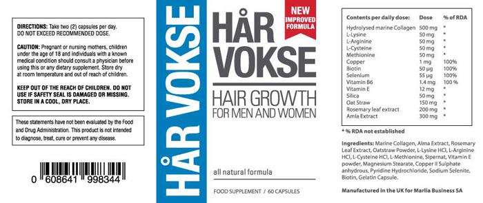 Хар Vokse: Най-добър растеж на косата спрей & Anti-Balding допълнение!